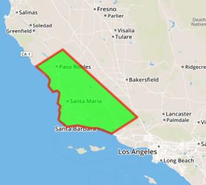 New Life Restorations Service Area Map