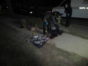 crime scene cleanup blood on sidewalk